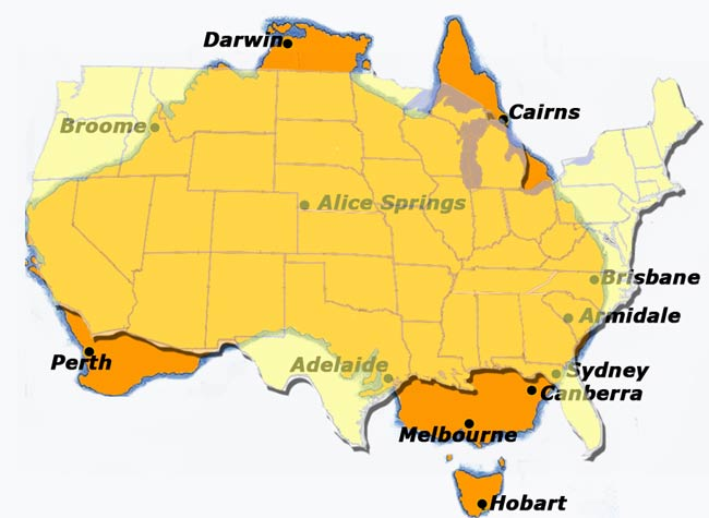 The Size Of Usa V Australia